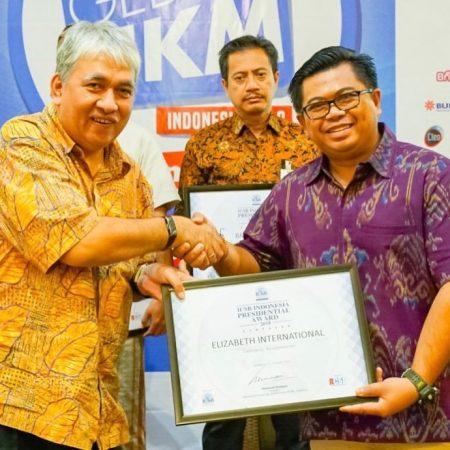Luar Biasa, Elizabeth International raih penghargaan ICSB Indonesia Presidential Award 2018 dari Mark Plus Indonesia