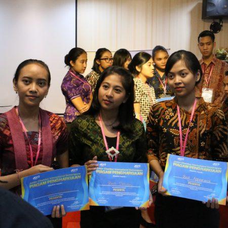 ELIZABETH INTERNATIONAL RAJAI JCI BALI ISLAND SPEAKING COMPETITION 2018