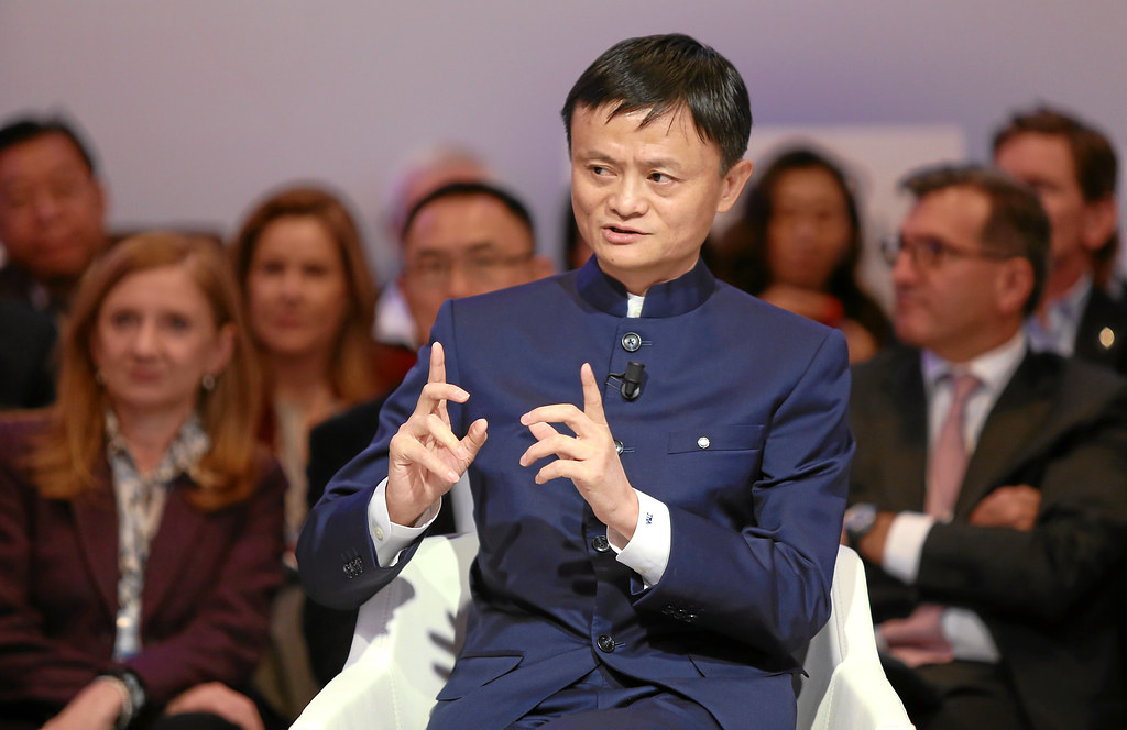 DAVOS/SWITZERLAND, 23JAN15 - Jack Ma, Executive Chairman, Alibaba Group, People's Republic of China; World Economic Forum Foundation Board Member speaks during 'An Insight, An Idea' session at the Annual Meeting 2015 of the World Economic Forum at the congress centre in Davos, January 23, 2015. WORLD ECONOMIC FORUM/swiss-image.ch/Photo Jolanda Flubacher