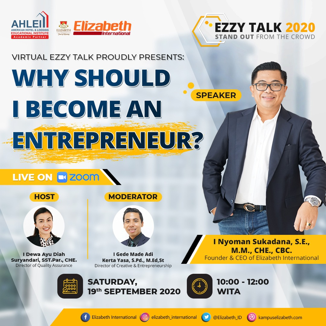 Ezzy talk, kampus perhotelan,elizabeth international