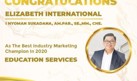 Elizabeth International Kembali Raih Penghargaan Industry Marketing Champion 2020 dalam Katagori Education Services.